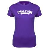 Ladies Syntrel Performance Purple Tee-Tarleton Texas