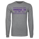 Grey Long Sleeve T Shirt-2019 Football Champions