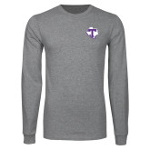 Grey Long Sleeve T Shirt-Primary