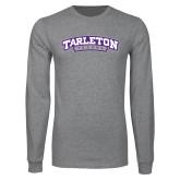 Grey Long Sleeve T Shirt-Tarleton Texas