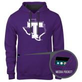 Contemporary Sofspun Purple Hoodie-Primary