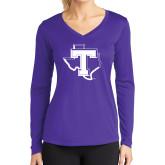 Ladies Syntrel Performance Purple Longsleeve Shirt-Primary