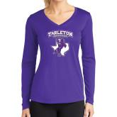 Ladies Syntrel Performance Purple Longsleeve Shirt-Full Spirit Mark