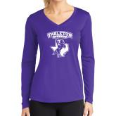 Ladies Syntrel Performance Purple Longsleeve Shirt-Tarleton Texas