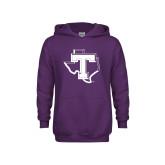 Youth Purple Fleece Hoodie-Primary