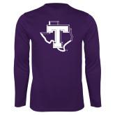 Performance Purple Longsleeve Shirt-Primary