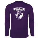 Performance Purple Longsleeve Shirt-Full Spirit Mark