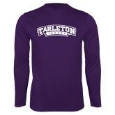 Performance Purple Longsleeve Shirt-Tarleton Texas