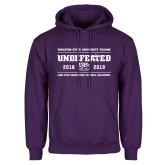 Purple Fleece Hoodie-2019 Football Champions