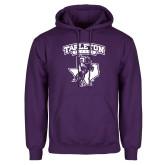 Purple Fleece Hoodie-Full Spirit Mark