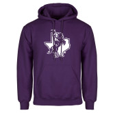 Purple Fleece Hoodie-Texas Spirit Mark