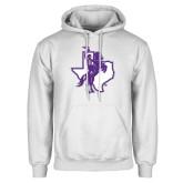 White Fleece Hoodie-Texas Spirit Mark