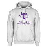 White Fleece Hoodie-Tarleton State University