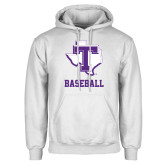 White Fleece Hoodie-Baseball