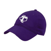 Purple Twill Unstructured Low Profile Hat-Primary