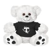 Plush Big Paw 8 1/2 inch White Bear w/Black Shirt-Primary
