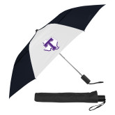 42 Inch Slim Stick Black/White Vented Umbrella-Primary