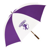 64 Inch Purple/White Umbrella-Full Spirit Mark