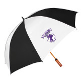 62 Inch Black/White Vented Umbrella-Full Spirit Mark