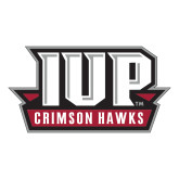 Large Decal-IUP Hawks Banner, 12 inches wide