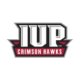 Small Decal-IUP Hawks Banner, 6 inches wide