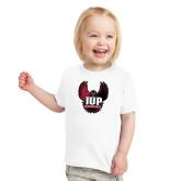 Toddler White T Shirt-IUP Hawk Wings