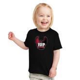 Toddler Black T Shirt-IUP Hawk Wings
