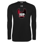 Under Armour Black Long Sleeve Tech Tee-IUP Hawk Wings