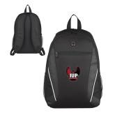Atlas Black Computer Backpack-IUP Hawk Wings