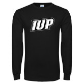 Black Long Sleeve T Shirt-IUP Logo