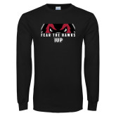 Black Long Sleeve T Shirt-Fear The Hawks