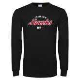Black Long Sleeve T Shirt-Script
