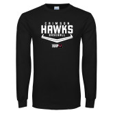 Black Long Sleeve T Shirt-Baseball Plate
