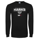 Black Long Sleeve T Shirt-Basketball Sharp Net
