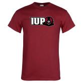 Cardinal T Shirt-IUP Hawk Head