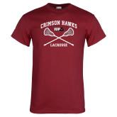 Cardinal T Shirt-Lacrosse Crossed Sticks
