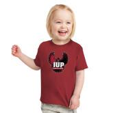 Toddler Cardinal T Shirt-IUP Hawk Wings