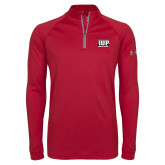 Under Armour Cardinal Tech 1/4 Zip Performance Shirt-IUP Hawks Banner