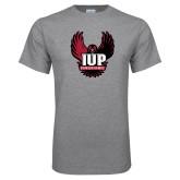 Grey T Shirt-IUP Hawk Wings
