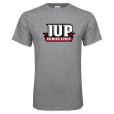 Grey T Shirt-IUP Hawks Banner