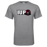 Grey T Shirt-IUP Hawk Head