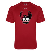 Under Armour Cardinal Tech Tee-IUP Hawk Wings