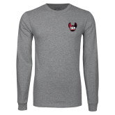 Grey Long Sleeve T Shirt-IUP Hawk Wings