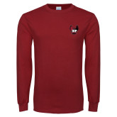Cardinal Long Sleeve T Shirt-IUP Hawk Wings