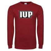 Cardinal Long Sleeve T Shirt-IUP Monogram