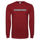Cardinal Long Sleeve T Shirt-Crimson Hawks