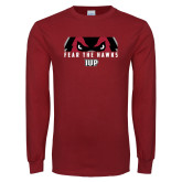 Cardinal Long Sleeve T Shirt-Fear The Hawks
