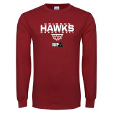 Cardinal Long Sleeve T Shirt-Basketball Sharp Net