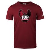 Adidas Cardinal Logo T Shirt-IUP Hawk Wings