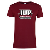 Ladies Cardinal T Shirt-IUP of Penn